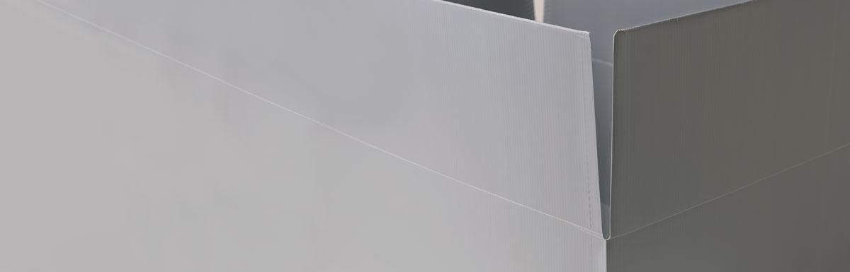 closeup view of box flaps